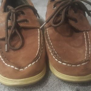 Boys Sperry brown shoe
